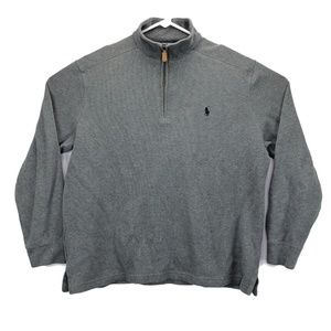 Polo Ralph Lauren Mens Large Jacket Gray Pullover